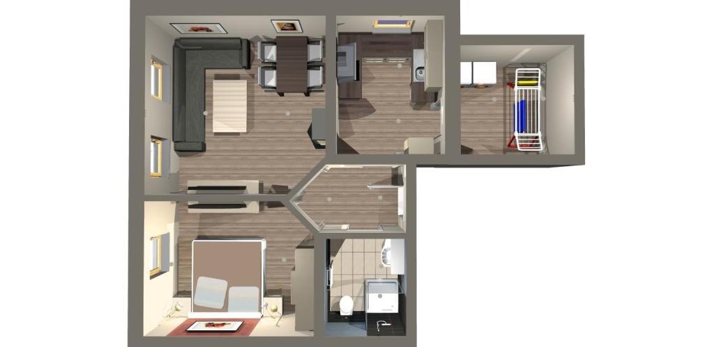 The floor plan of Apartments Clara