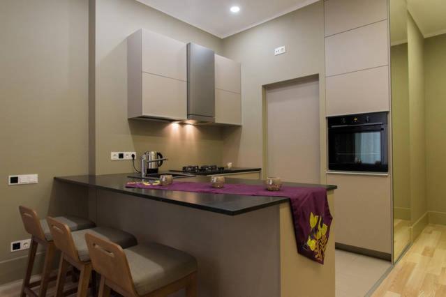 מטבח או מטבחון ב-The Dome Apartment