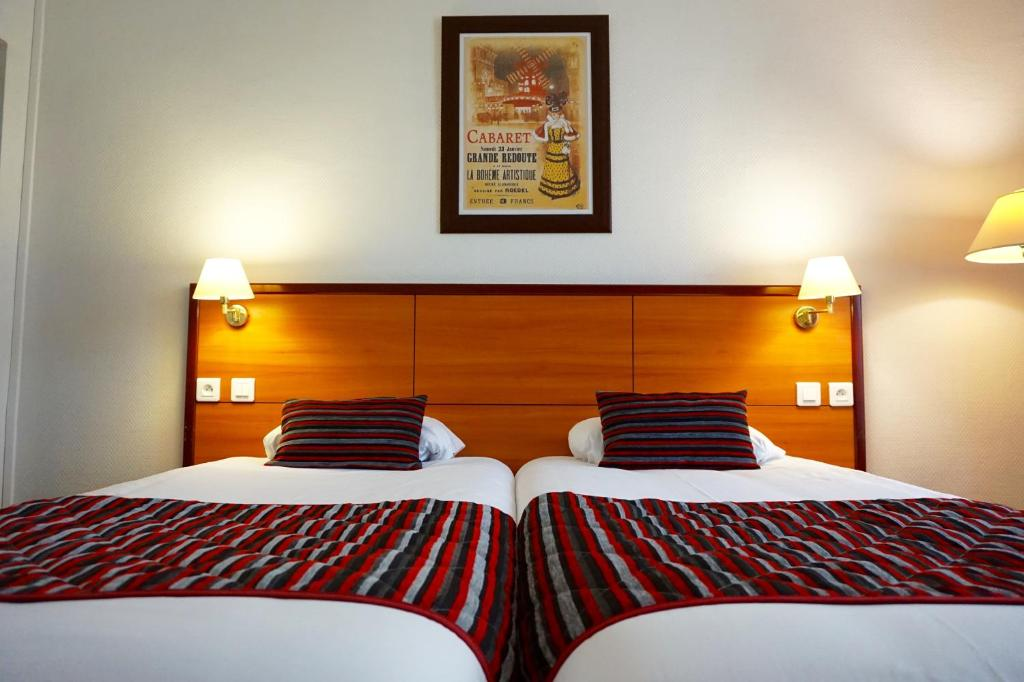A bed or beds in a room at Coypel