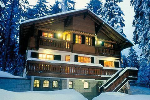 Villa Stresov during the winter
