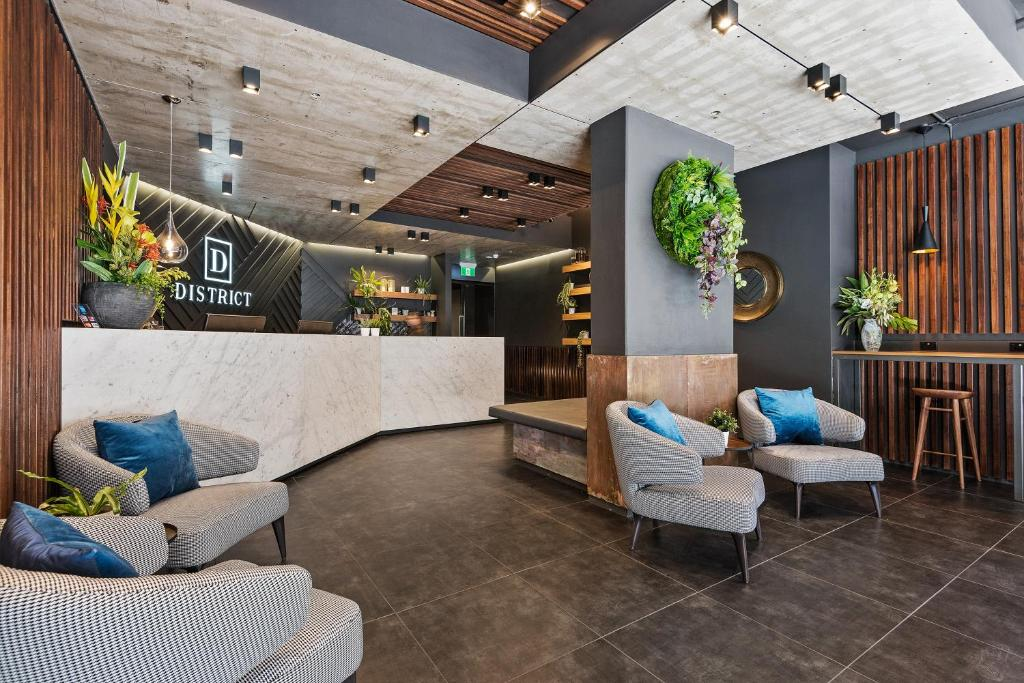 The lobby or reception area at District South Yarra