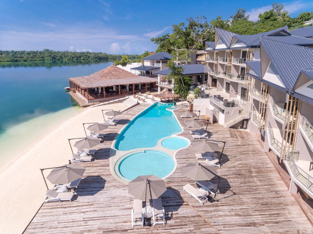 A view of the pool at Ramada Resort by Wyndham Port Vila or nearby