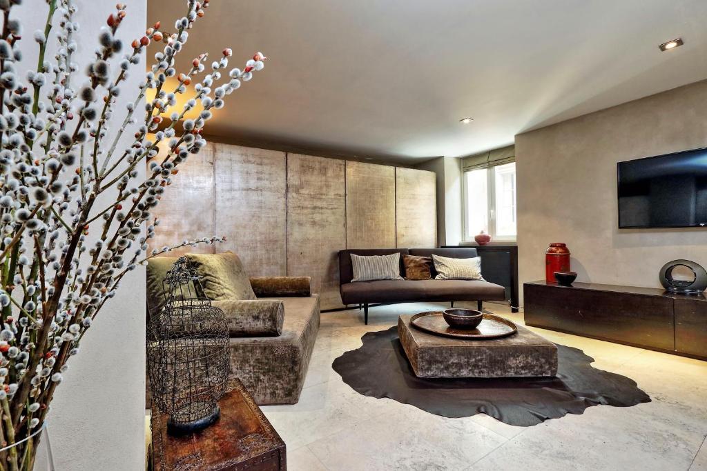 Część wypoczynkowa w obiekcie Vicolo del Cinque Terrace Apartment