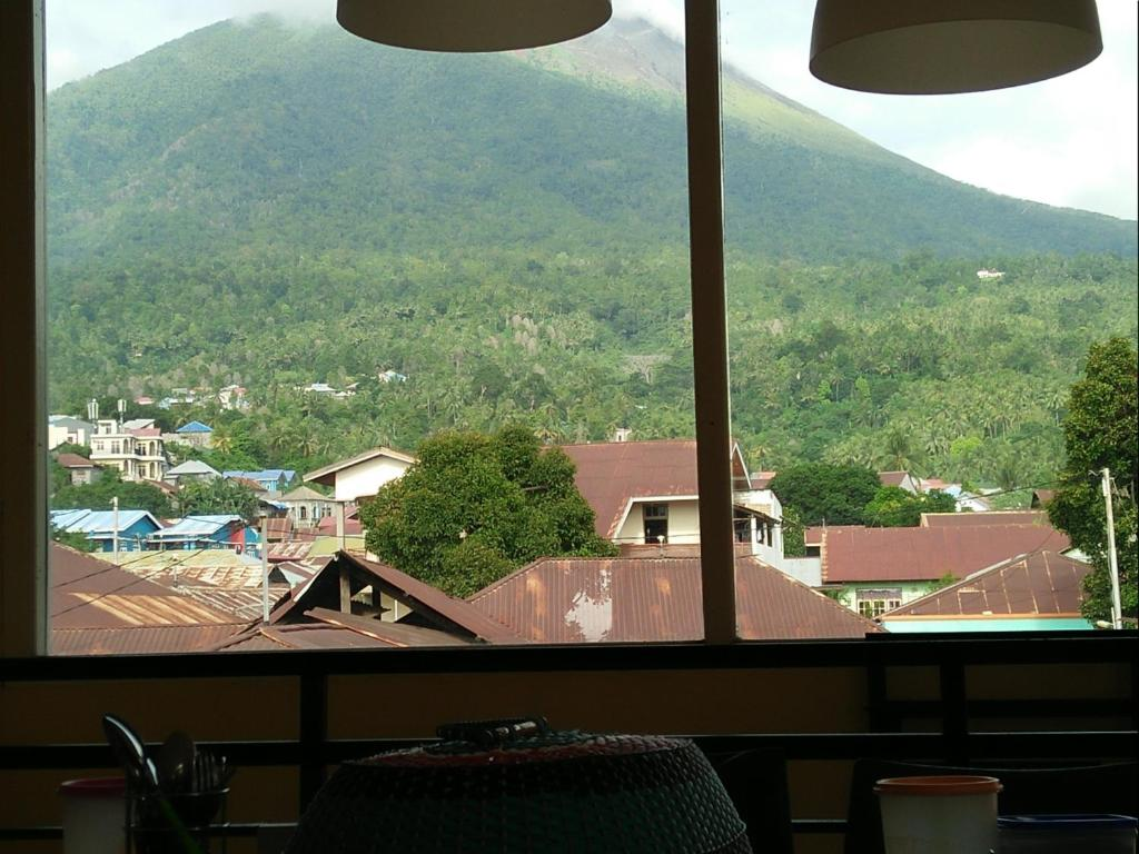 Uma vista geral da montanha ou uma vista da montanha a partir do quarto em acomodação particular