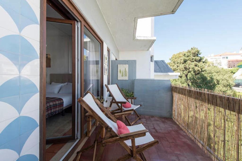 A balcony or terrace at Estoril Studio, 1-3 Guests