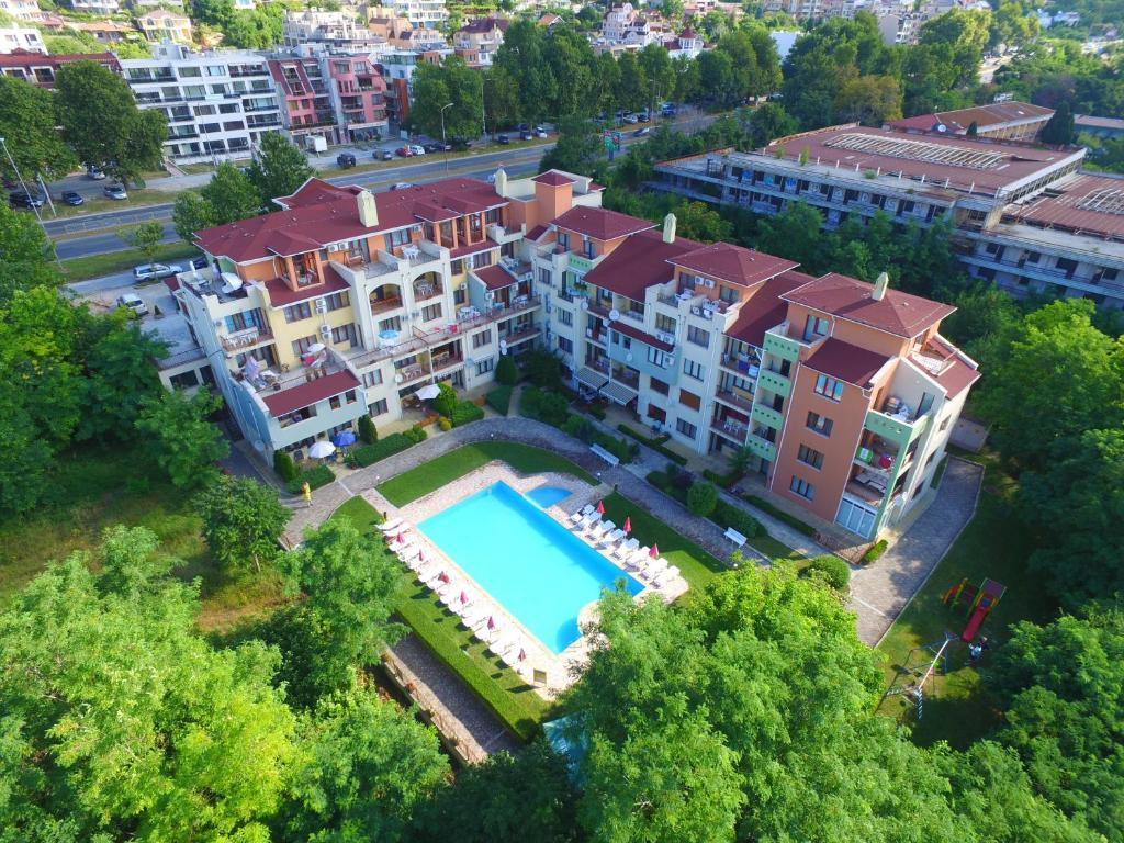Letecký snímek ubytování Sea Park Homes Neshkov