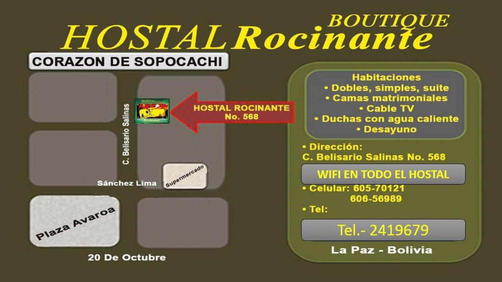 The floor plan of Hostal boutique Rocinante