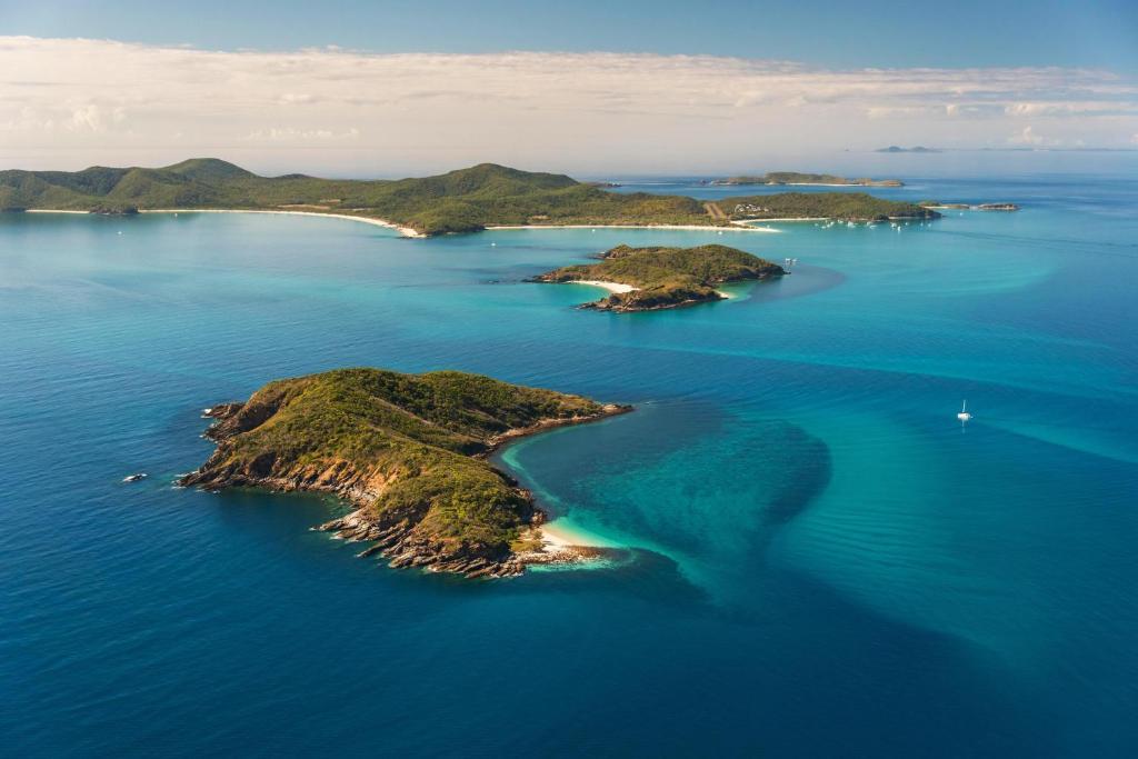 A bird's-eye view of Great Keppel Island Hideaway