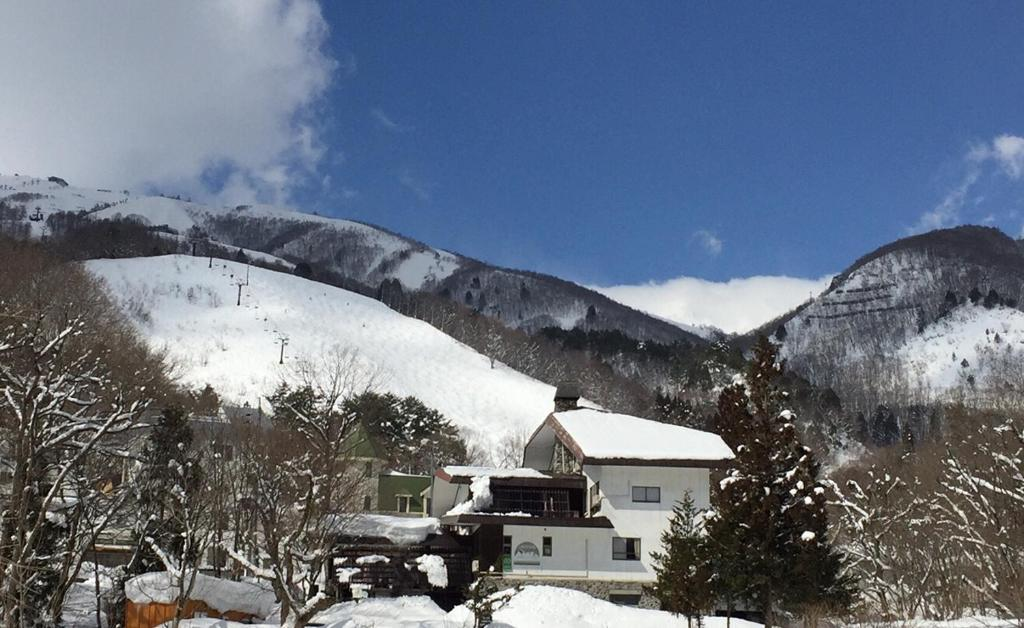 Hakuba Landmark Happo Lodge during the winter
