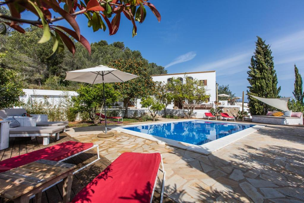 The swimming pool at or near Can Rosa Ibiza, private pool, 10 minutes from the beach
