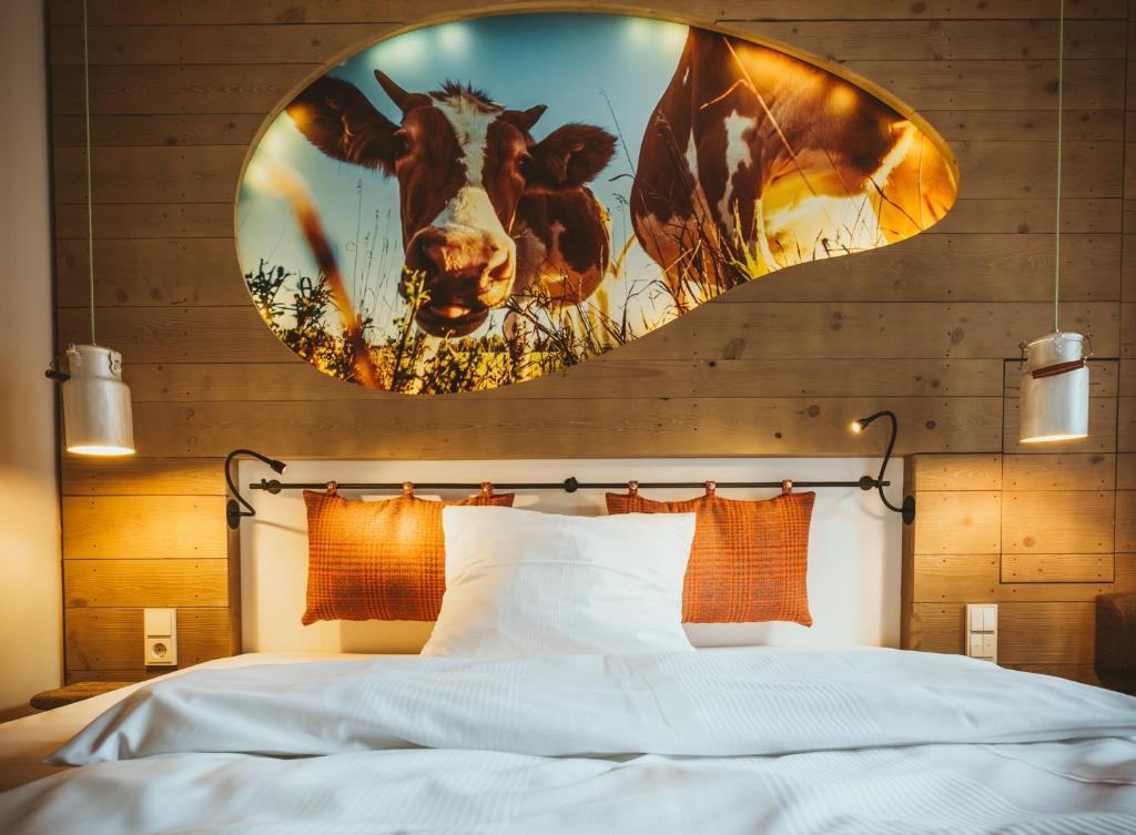 Ein Bett oder Betten in einem Zimmer der Unterkunft Cocoon Hauptbahnhof