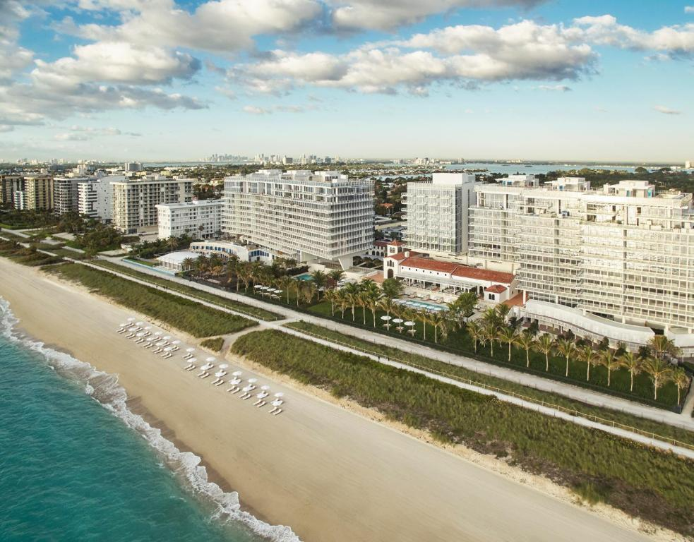 A bird's-eye view of Four Seasons Hotel at The Surf Club