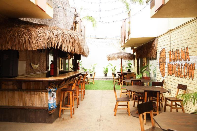 A restaurant or other place to eat at Banana Bungalow West Hollywood