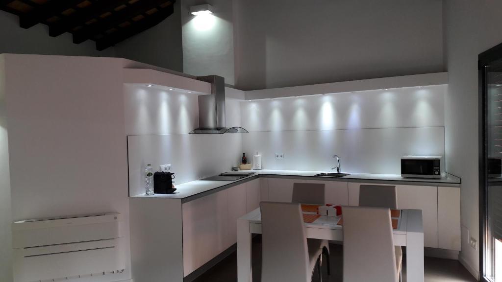 Η κουζίνα ή μικρή κουζίνα στο Apartaments Entre Volcans