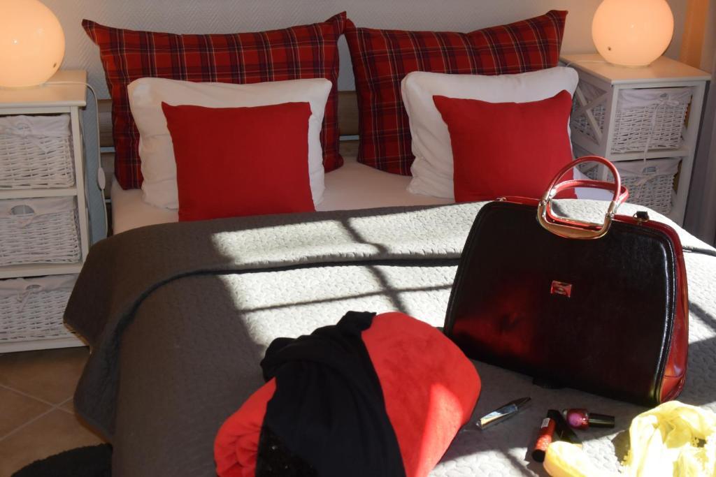 Ein Bett oder Betten in einem Zimmer der Unterkunft Ferienapartments Urlaub und Meer