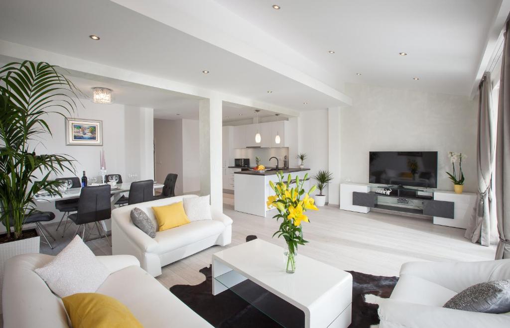 Posezení v ubytování Modern Apartman Pjero