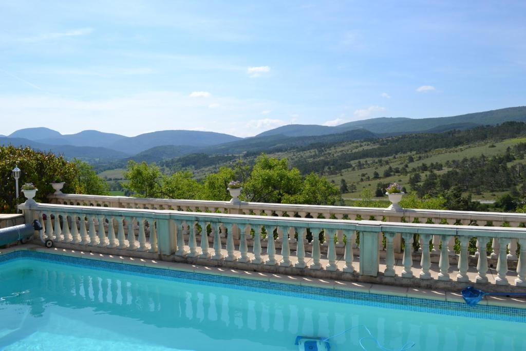 The swimming pool at or near Logis Hôtel Le Vieil Amandier