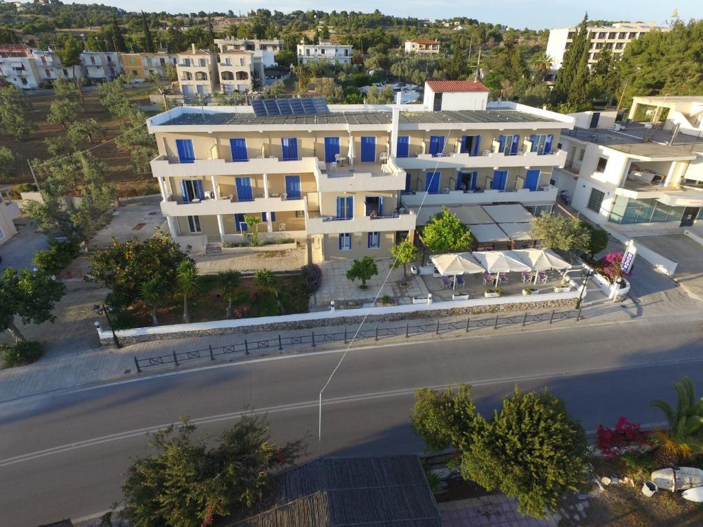 A bird's-eye view of Rozos Hotel