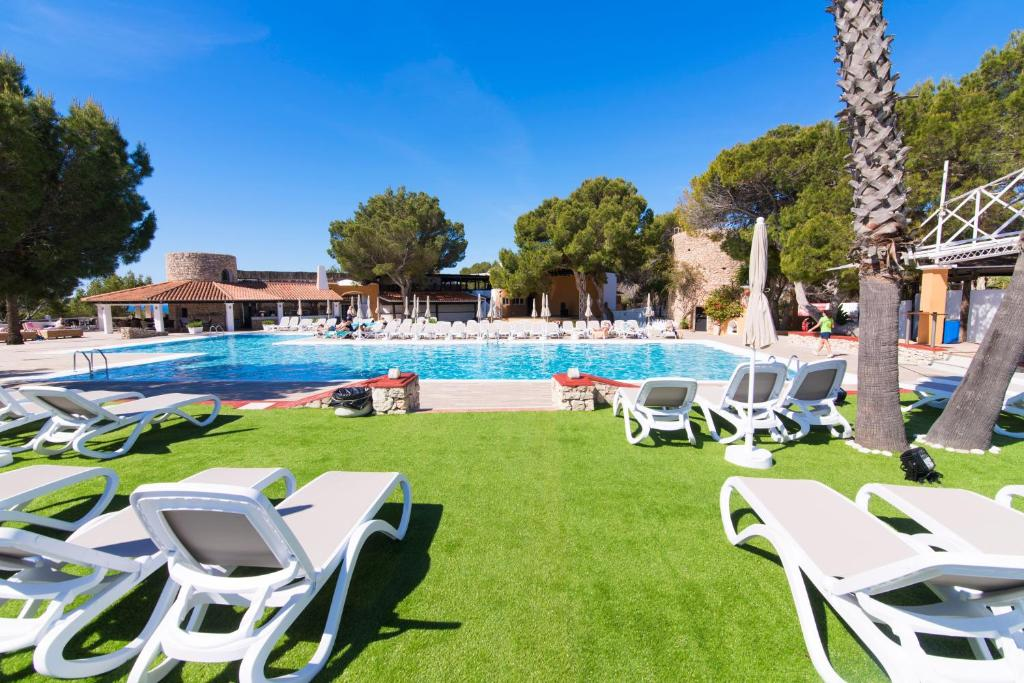 The swimming pool at or near azuLine Club Cala Martina Ibiza
