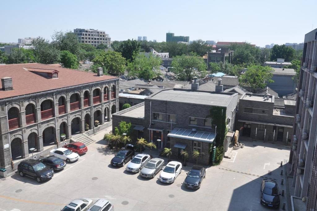 Una vista aérea de King Parkview Hotel
