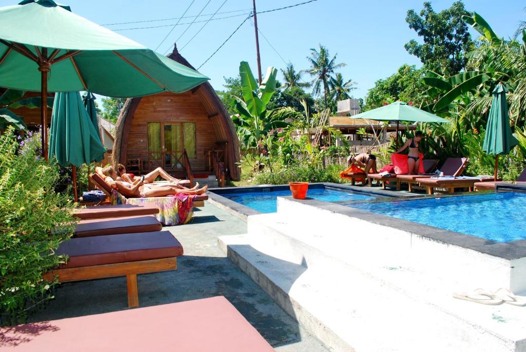 The swimming pool at or close to Matahari 1