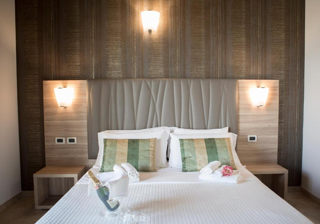 Krevet ili kreveti u jedinici u okviru objekta Hotel Prestige