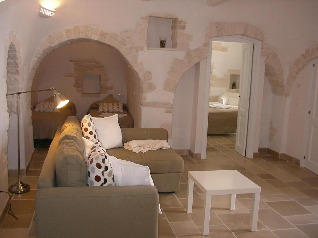 A seating area at Charming Trulli