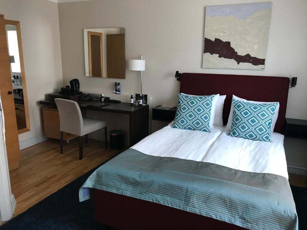 Katil atau katil-katil dalam bilik di Hotel Riddargatan