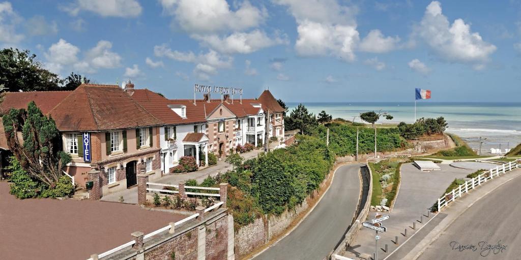 Blick auf Hotel Royal Albion aus der Vogelperspektive