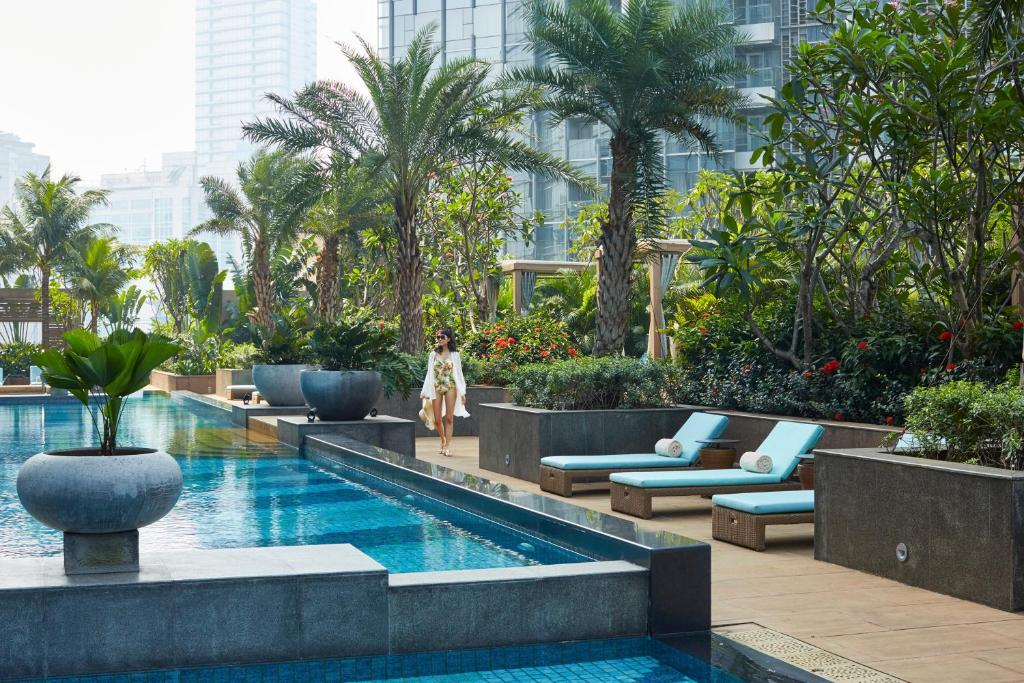 The swimming pool at or near Raffles Jakarta