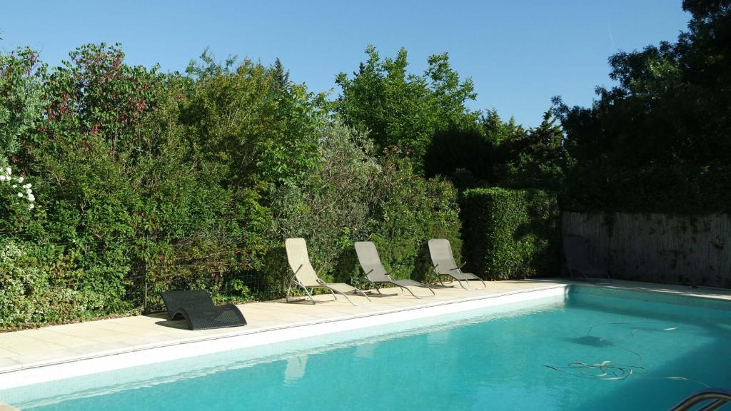 The swimming pool at or near Mas Grimaud Gîte