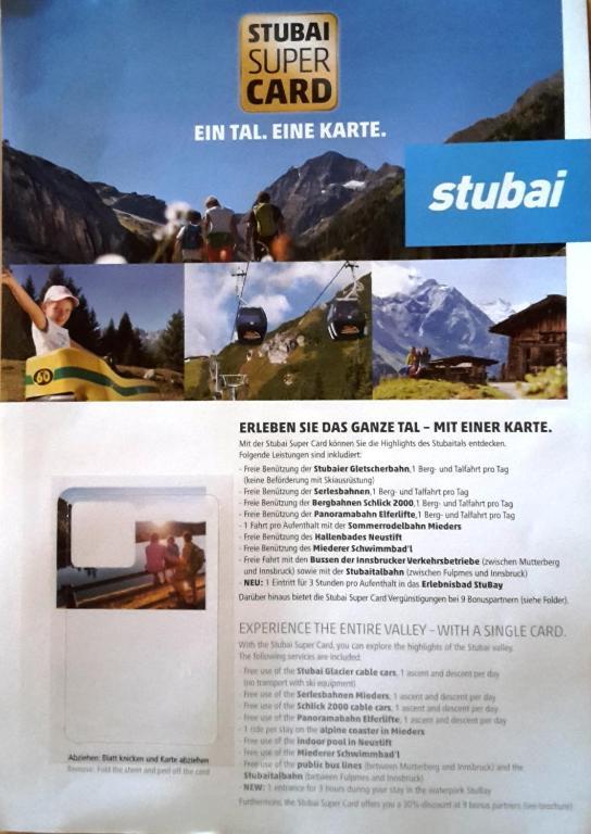 Angebote und Pauschalen Stubaier Gletscher / Stubaital