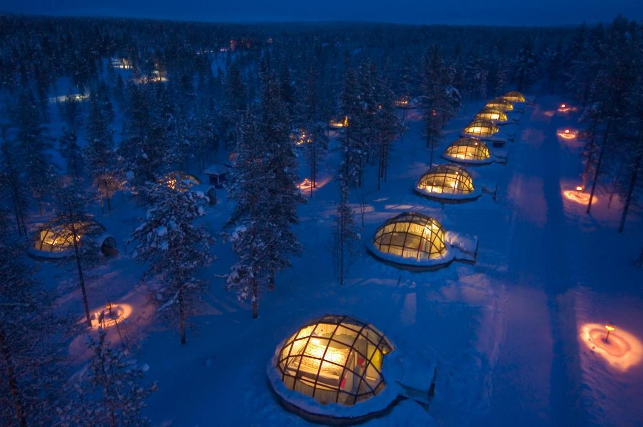 glass igloo village Finland - Kakslauttanen Arctic Resort