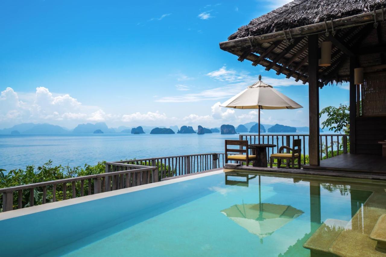 A piscina localizada em Six Senses Yao Noi ou nos arredores