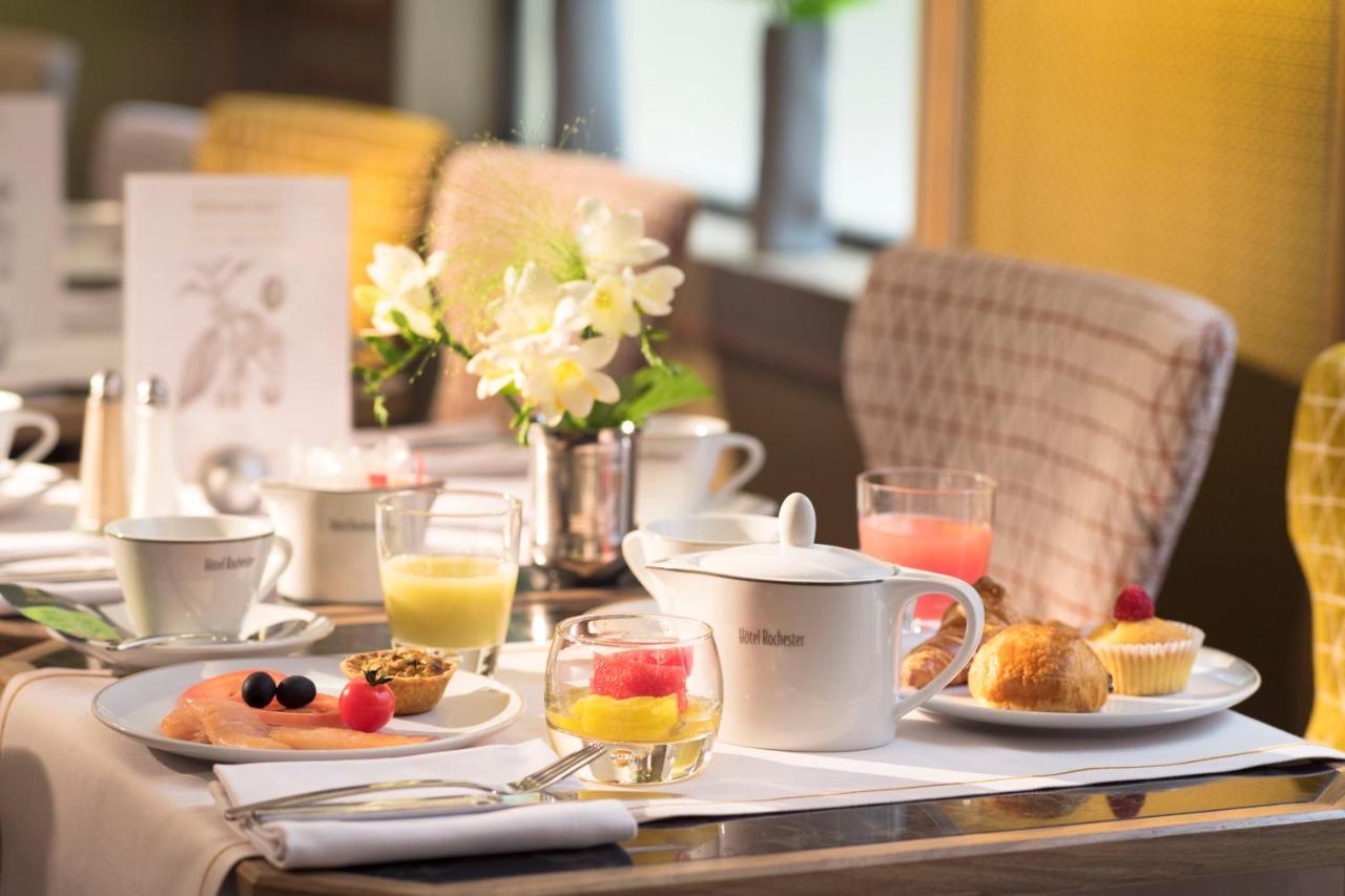 خيارات الإفطار المتوفرة للضيوف في روتشستر شانزليزيه