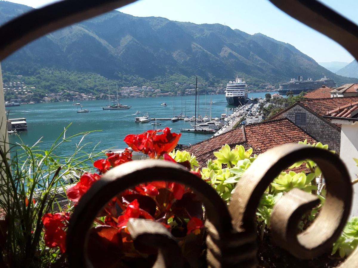 Sea view from an accommodation in Kotor