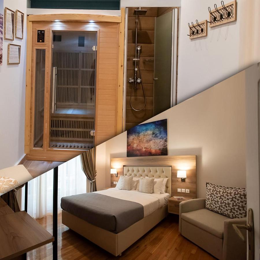 Ark Wood Elevator apartment blue ark lavish sauna suite, athens, greece