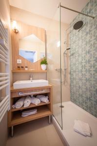 Salle de bains dans l'établissement Residhome Nice Promenade