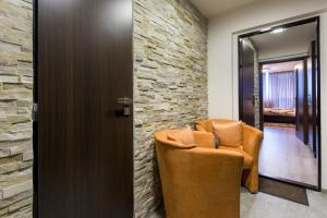 A seating area at Luxury Apartments Ostrava