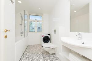 Vonios kambarys apgyvendinimo įstaigoje Tallinn Apartment Hotel