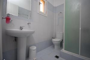 A bathroom at Pension Stella
