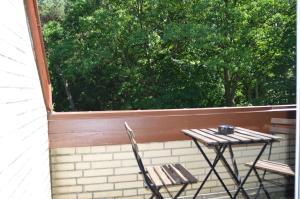 Ein Balkon oder eine Terrasse in der Unterkunft Haus am Tarpenufer