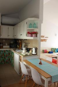 A kitchen or kitchenette at Casa Mar Azul