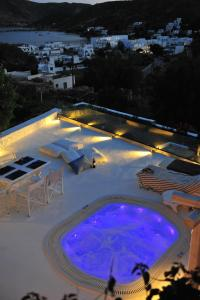 A view of the pool at Patmos Exclusive Villas or nearby