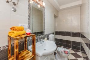 Koupelna v ubytování Apartments Old Town