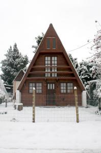 Casita Alpina Aguca durante el invierno