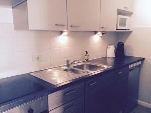 Küche/Küchenzeile in der Unterkunft Studio Ostend Living