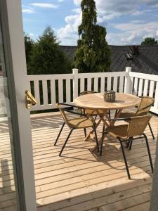 A balcony or terrace at House Apartmentshumpolec + Garden