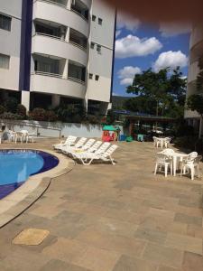 The swimming pool at or near RIO QUENTE ÁGUAS DA SERRA GO