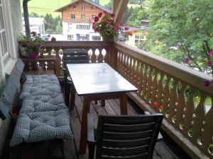 A balcony or terrace at Ferienhaus Forsthof